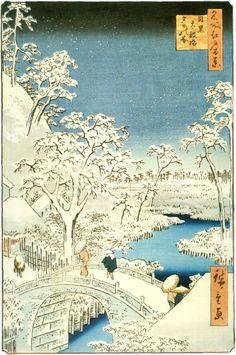 Utagawa Hiroshige in my bedroom too