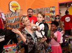 Actress Sarah Michelle Gellar (L) and her son Rocky James Prinze attend the Mattel Party On The Pier at Santa Monica Pier on September 27, 2015 in Santa Monica, California.