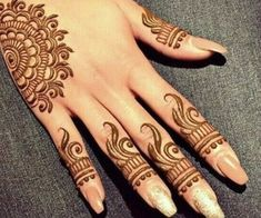 henna and mendhi image Henna Tattoo Designs Simple, Finger Henna Designs, Back Hand Mehndi Designs, Mehndi Designs 2018, Mehndi Designs For Beginners, Mehndi Design Pictures, Mehndi Designs For Girls, Mehndi Designs For Fingers, Mehndi Designs Book