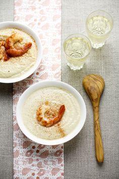 - VANIGLIA - storie di cucina: Passatina di ceci con gamberi alla paprica e vino bianco