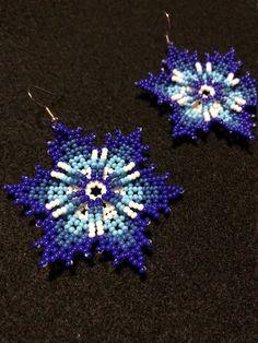 Seed Bead Jewelry, Bead Earrings, Flower Earrings, Seed Beads, Beaded Jewelry, Native American Beading, Native American Jewelry, Beading Tutorials, Beading Patterns