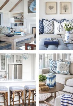 Excellent Set sail and take your colour cue from ocean inspired living. Ultra polished, navy is th… The post Set sail and take your colour cue from ocean inspired living. Hamptons Decor, The Hamptons, Coastal Living Rooms, Home And Living, Living Room Decor, Beach House Decor, Beach Houses, Beach Cottages, White Decor