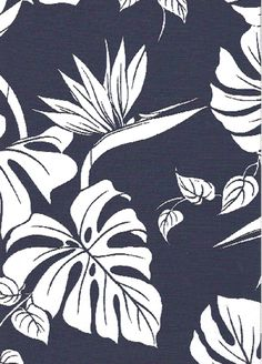 Tropical Hawaiian leafy reversible cotton apparel fabric with monstera leaves and birds of paradise flowers. BarkclothHawaii.com