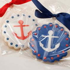 Anchor Cookies Beach Nautical Sailboat party 12 Decorated