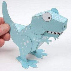 Awesome Printable Tyrannosaurus Rex: this free printable paper toy is so awesome!