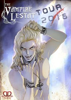 """The Lestat tribute illustration me made for the fans of our facebook page Dany&Dany. Hope you like it! ^_^///  The pose and the mood is inspired by a picture of Tom Cruise in """"Rock of Ages""""."""