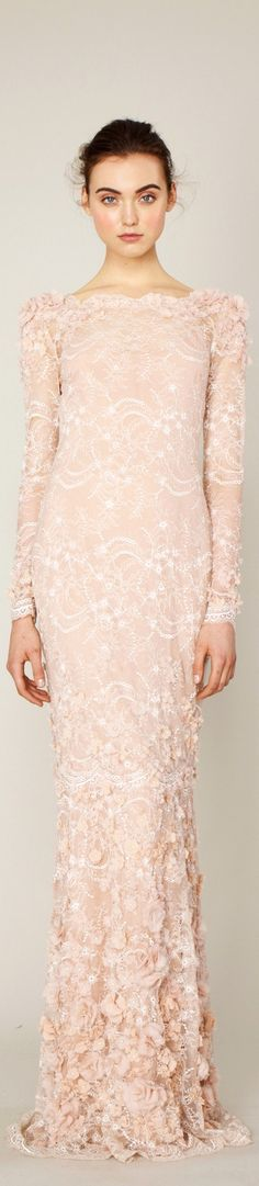 Winter wedding? Beautiful style and colour for a bride or her bridesmaids. - Marchesa RESORT 2014
