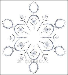 Winter Snowy Flake Paper Embroidery Pattern for Greeting door Darse
