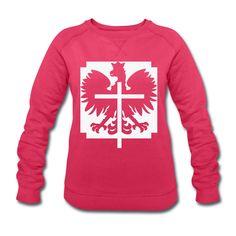 Polska Crucifix Sweater Women (*Weiß Glitzer*) - Frauen Sweatshirt von Stanley & Stella