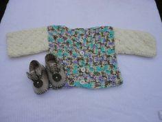 blusa em crochet para bebe