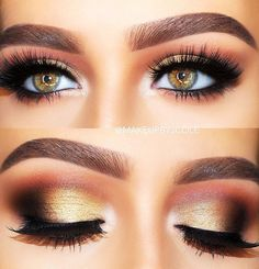 Need simple makeup tips? Want to know how to use eyeliner and eyeshadow effectively? You'll find what you're looking for in this tutorial featuring ma Eyeshadow Brush Set, Eyeshadow Makeup, Eyeshadow Palette, Colorful Eye Makeup, Colorful Eyeshadow, How To Use Eyeliner, Eyeliner Techniques, Simple Makeup Tips, Orange Eyeshadow