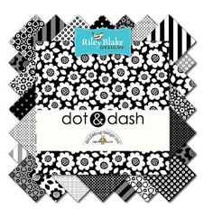 Dot & Dash by Riley Blake  42 pieces/5 square by SwatchesFabrics
