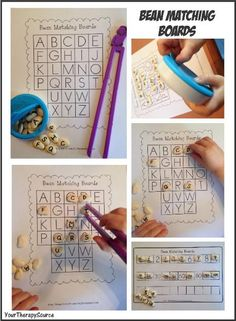 Preschool fine motor activity that also helps develop letter recognition - with free printable!