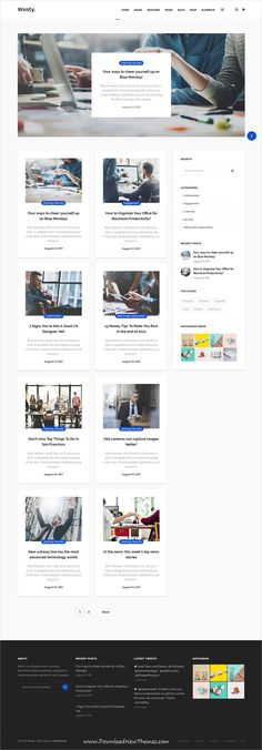 Westy is clean, stylish and modern design responsive multipurpose #WordPress theme for #blog and #bloggers websites with 60+ niche homepage layouts to live preview & download click on image or Visit
