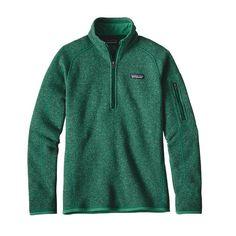 Patagonia Women\'s Better Sweater\u00AE 1\/4-Zip Fleece - Impact Green IMPG