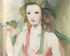 labellefilleart: Girl with a Trompet, Marie Laurencin
