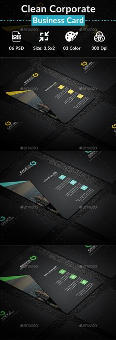 Clean #Corporate #Business #Card - Creative Business Cards Download here: https://graphicriver.net/item/clean-corporate-business-card/20447305?ref=alena994