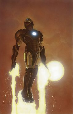 Invincible Iron Man #3 variant cover by Travis Charest