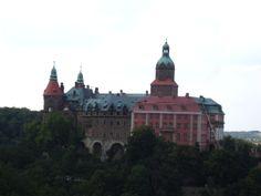 Castle in Książ, Poland, built between 1288–1292.  Third largest castle in Poland