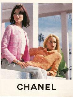 Shalom Harlow & Amber Valletta by Karl Lagerfeld SS 1996.