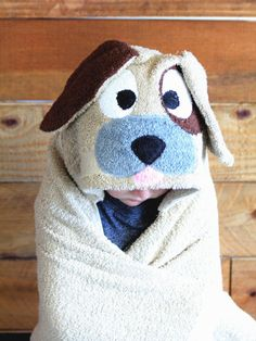 Kids Hooded Towels, Hooded Bath Towels, Towel Boy, Baby Towel, Dogs And Kids, Dogs And Puppies, Towel Wrap, Birthday Gifts For Kids, Sewing For Kids