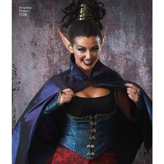 Simplicity Pattern 1138 Misses' Dark Faeries Costumes Faerie Costume, Costume Patterns, Fantasy Costumes, Simplicity Patterns, Faeries, Wonder Woman, Saree, Superhero, Unique