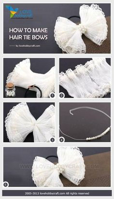 How to make hair tie bows by Ada123