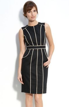 Dear Stitchfix stylist, this is an example of an item I would wear to my conservative workplace. I prefer a neutral color palette with black and white and dark blues. I prefer sleeveless tops and dresses which can be paired with a jacket or sweater. Hemlines on skirts and dresses need to be knee length or longer.