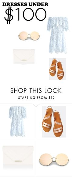 """summer for less"" by mariamkhedrr ❤ liked on Polyvore featuring Chicwish and Accessorize"