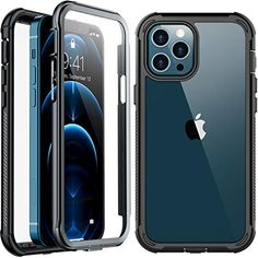 #Temdan #iPhone12ProMax Clear Case With Built-in #ScreenProtector