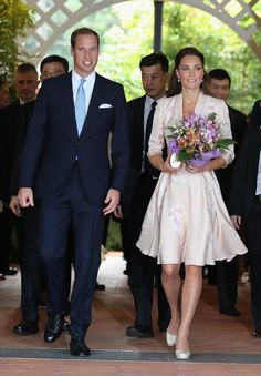 The Duke and Duchess of Cambridge in Singapore, representing the Queen for the Diamond Jubilee, September 11, 2012