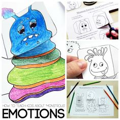 Monstrous Emotions Printable- Simple Emotions Activity for Kids