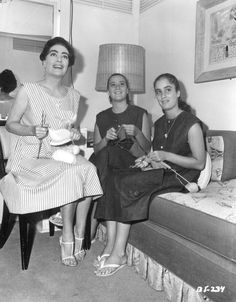Joan Crawford and the twins in her dressing room. Whatever Happened to Baby Jane? (1962)
