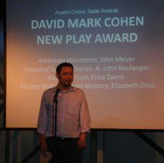 A. John Boulanger - receiving Critics' Table Award