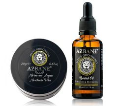 We are pleased to introduce our Azbane Beard COMBI DEAL.  This deal includes :  AZBANE – MOROCCAN ARGAN MOUSTACHE WAX 20GR  AZBANE, MOROCCAN ARGAN, BEARD OIL – TOBACCO & PATCHOULI – 50ML