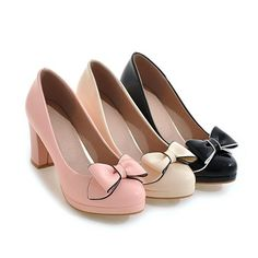 e00fbbcbaf12 Patent Leather Bow Tie High Heeled Platform Heels Shoes for Women 6723