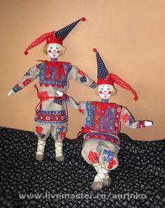 Кукла Скоморох (синий) – купить в интернет-магазине на Ярмарке Мастеров с доставкой - 4M40RU   Москва
