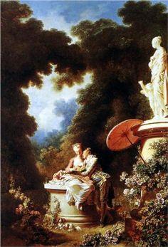 The Confession of Love - Jean-Honore Fragonard c. 1771, Rococo