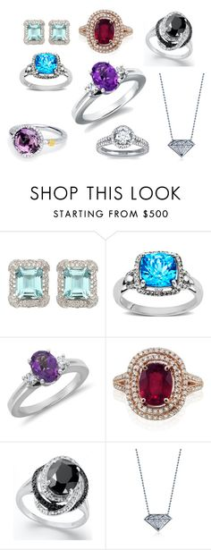 """""""Diamond2deal"""" by diamond2deal ❤ liked on Polyvore featuring W Collection, Lord & Taylor, Blue Nile, Effy Jewelry, Alex Woo, loose diamonds, diamonds, rings and engagement rings"""