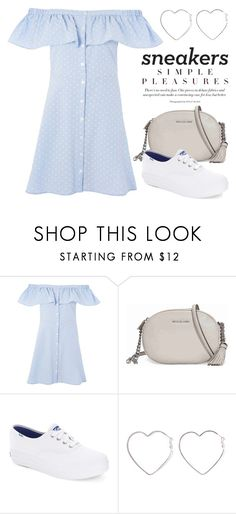 """""""So Fresh: White Sneakers 4238"""" by boxthoughts ❤ liked on Polyvore featuring Topshop, Michael Kors, Keds, Ana Accessories and whitesneakers"""