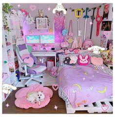 Room Design Bedroom, Girl Bedroom Designs, Room Ideas Bedroom, Bedroom Decor, Cute Room Ideas, Cute Room Decor, Pastel Room, Pink Room, Neon Room