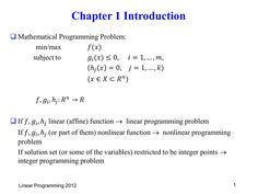 Linear Programming (Optimization) Linear Programming, Linear Function, Regression Analysis, Absolute Value, Communication Networks, Book Reports, Standard Form