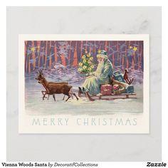 Vienna Woods Santa Holiday Postcard Victorian Christmas, Pink Christmas, Vintage Christmas, Christmas Cards, Merry Christmas, Christmas Invitations, Pink Invitations, Vienna Woods, Holiday Postcards
