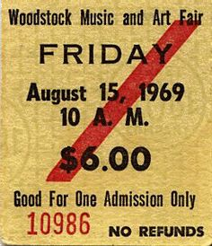apropos of nothing... Woodstock lineup, setlists, photos and some audio links