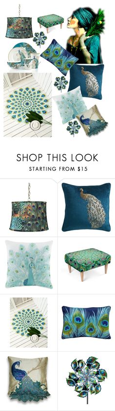 """""""peacock home"""" by carrie-bradshaw2 ❤ liked on Polyvore featuring interior, interiors, interior design, home, home decor, interior decorating, Universal Lighting and Decor, Pier 1 Imports, Jessica Simpson and Modloft"""