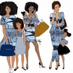 The Beauty Of Black Women Through illustration – Glam Africa