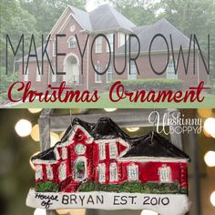 How to make your own Christmas Ornament from clay