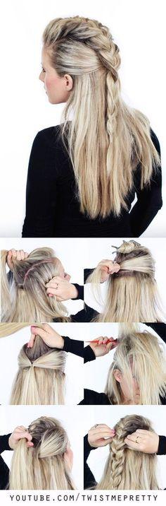 Peinados para cabello lacio, largo, suelto y fáciles – De Peinados