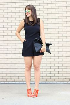 black romper outfit