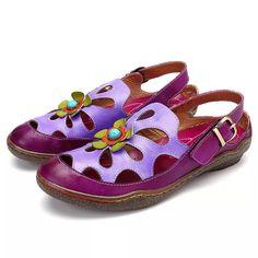 SOCOFY Donna a fiori Scarpe Da Sandali Sandalo Ballerine Pantofole Slippers